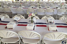 Gulf Coast Party and Event Rental table settings