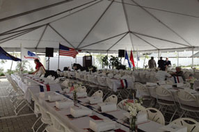 Gulf Coast Party and Event Rental set-up