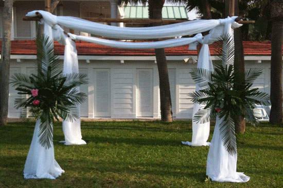 Gulf Coast Party and Event Rental wedding arch